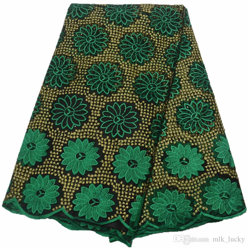 african french lace fabric high quality 2019 nigerian lace fabrics tulle lace with stones