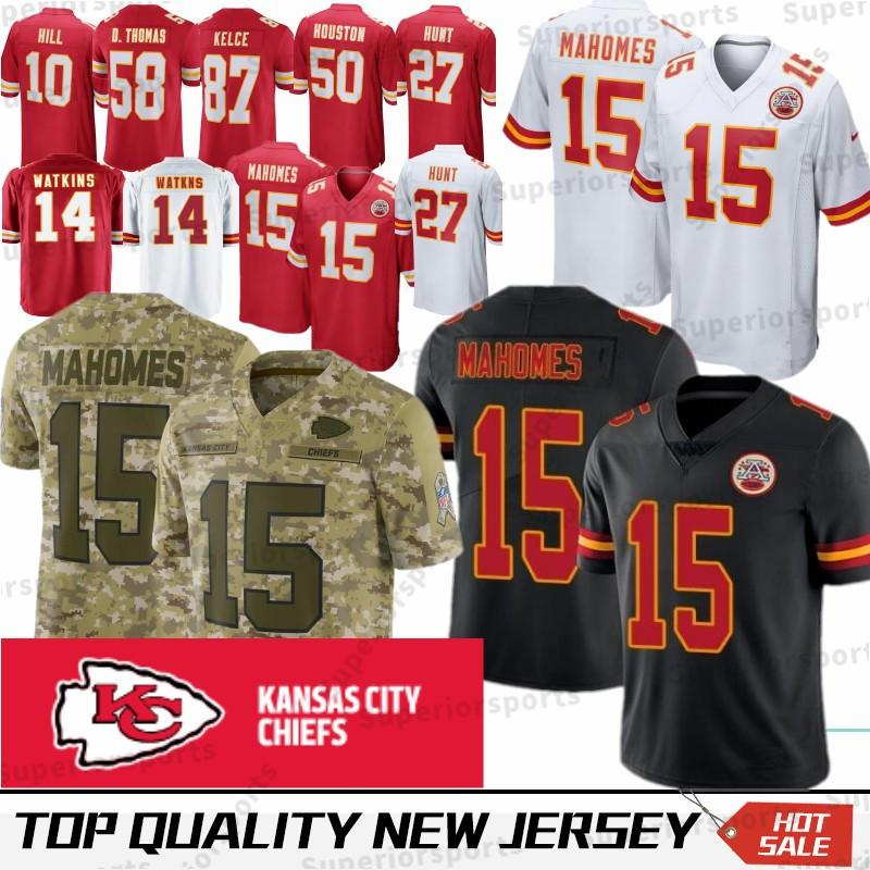 15 Patrick Mahomes Kansas City Chief Jerseys 27 Kareem Hunt 14 Sammy