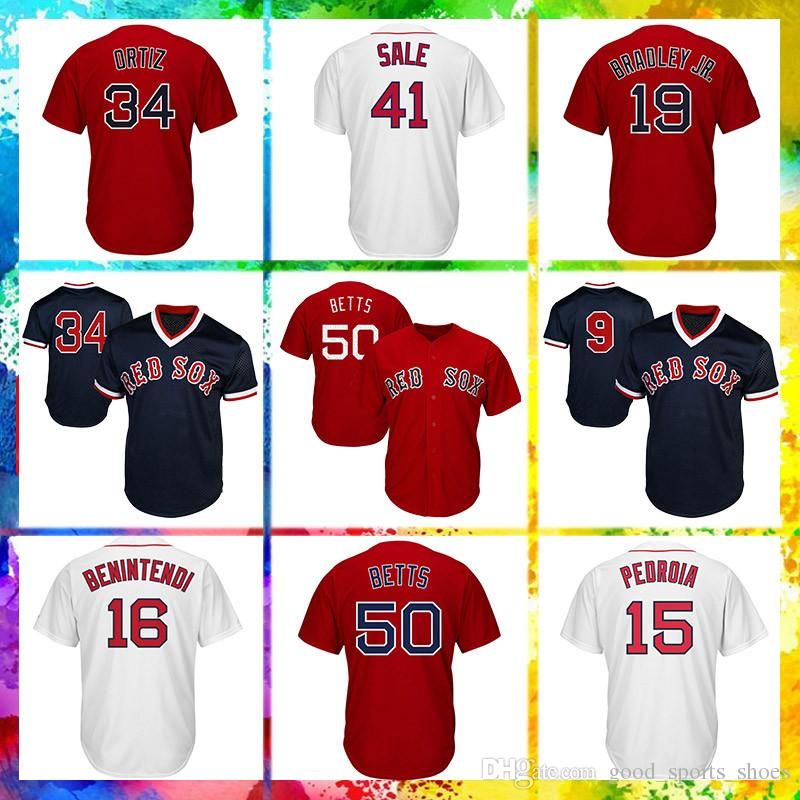 2019 Boston Red Sox Jersey 19 Jackie Bradley Jr Jersey 50 Mookie Betts 15  Dustin Pedroia 16 Andrew Benintendi From Good sports shoes 6a3d1c913