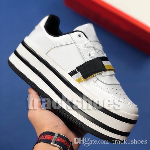 ee558992 Diseñador De Moda De Lujo Para Mujer Vandal 2K Zapatos De Cuero De Fondo  Grueso WMNS Multi Negro Blanco Entrenadores Zapatillas Zapatillas 36 39 Por  ...