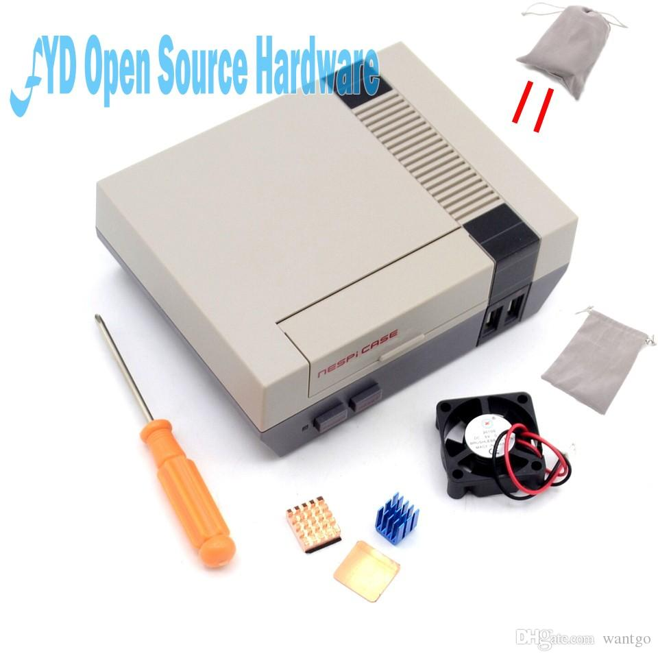 1set high quality Mini NES NESPI CASE Retroflag Case with Cooling Fan Designed for Raspberry Pi 3 / 2 / B+ freeshipping