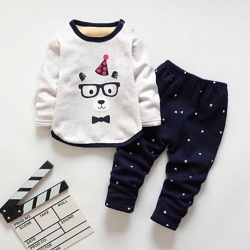 f8ddf86a93 Good Qulaity Boys Clothing Set Kids Cotton Long Sleeve Outfits Children  Cartoon Fleece Pajamas Nightwear Bebe Girls Sleepwear Online with   37.62 Piece on ...