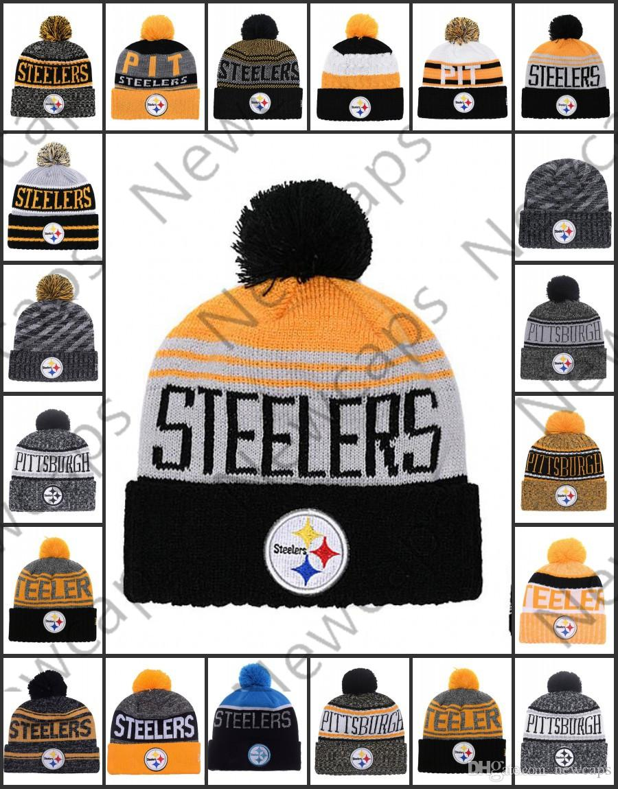 43109126 Wholesale Pittsburgh Sport Winter Hats Steelers Stitched Team Logo Brand  Warm Men Women Hot Sale Knitted Caps Cheap Mixed Beanies