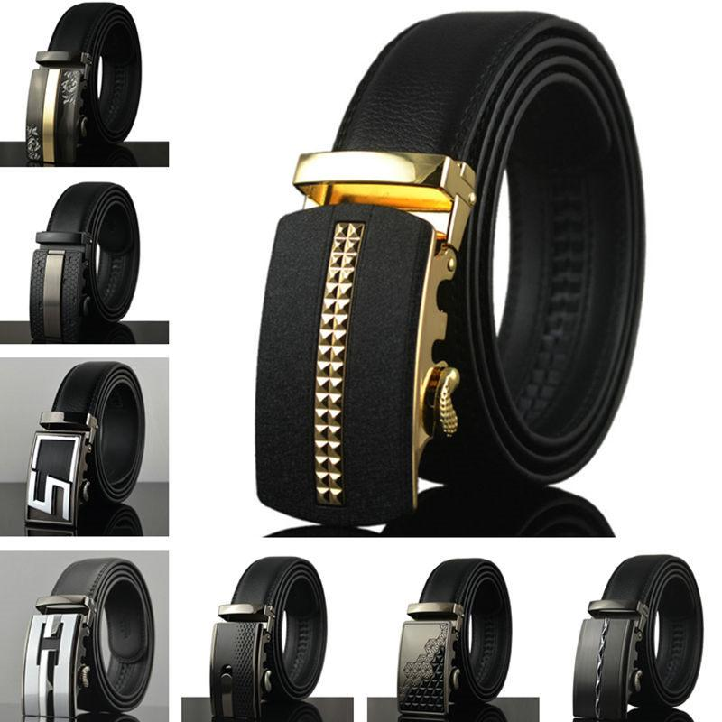 227837c6af3 Europe Style Fashion Cowhide Belts Automatic Buckle Business ...