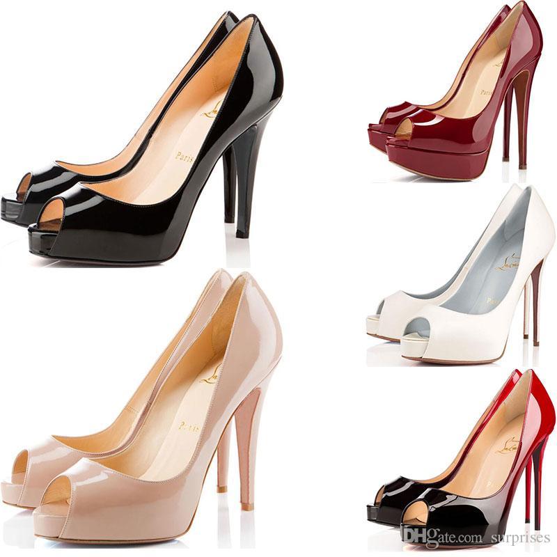 3181aad095436f Acquista Christian Louboutin CL Scarpe Da Donna Di Design So Kate Styles Scarpe  Con Tacchi Alti Scarpe Con Tacchi Rossi Di Lusso 12CM 14CM Scarpe Con Punta  ...