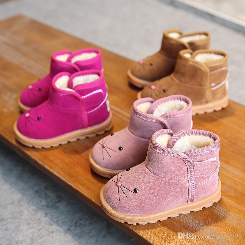 98bf1d47f Compre 2019 Invierno Nuevo Niño Niña De Dibujos Animados Botas Para La  Nieve Boy Algodón Zapatos Más Terciopelo Bebé Botines Niña Niño Botas Niños  Chaussure ...