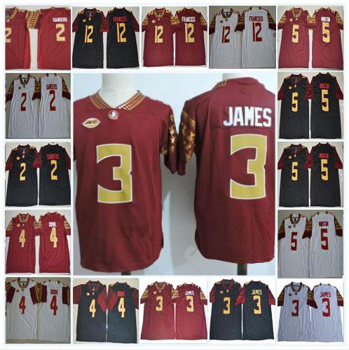 new concept 19bf3 e1919 Mens NCAA FSU Derwin James College Football Jerseys Deion Sanders Dalvin  Cook Jameis Winston Deondre Francois Florida State Seminoles Stitch