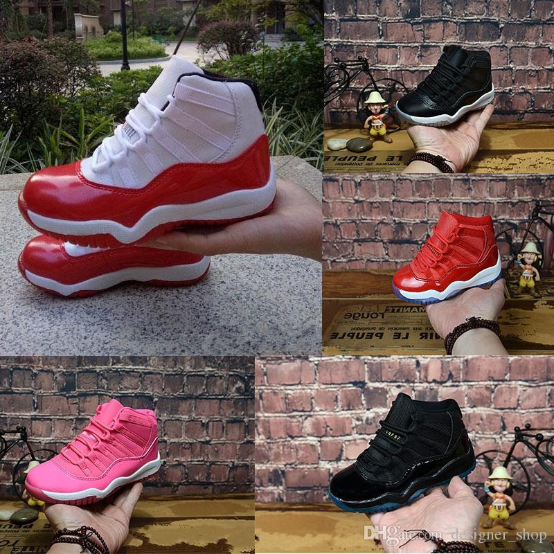 Nike air max jordan 11 retro Gezüchtete XI 11S Kinder Basketball Schuhe Turnhalle rotes Kind Kinder Kleinkind Gamma Blue Concord 11 Trainer Junge