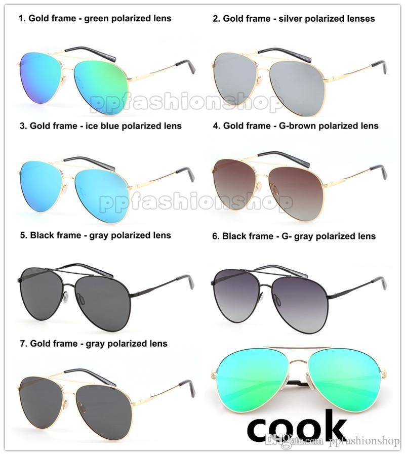 7d4f811ca6 Compre Piloto Gafas De Sol Polarizadas Gafas De Sol De La Marca Gafas  Redondas Para Cocinar Gafas De Sol Redondas De Gran Tamaño Diseñador Retro  Anteojos ...