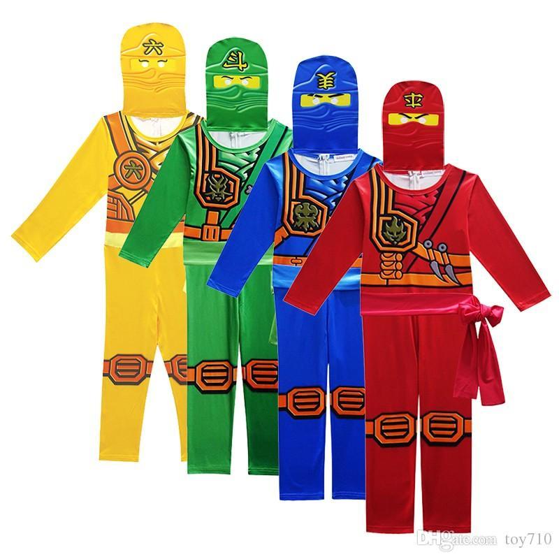 Ninjago Cosplay Costume Boys Clothes Sets Ninjago Party Halloween Christmas Fancy Dress Ninja Cosplay Superhero Jumpsuits Suits Clothing Sets