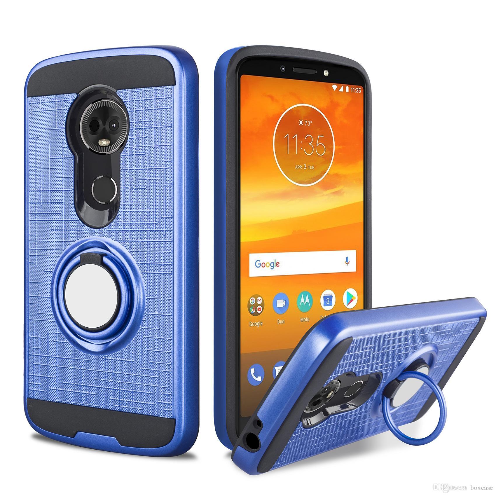 c80f7fedcd2 Estuches Para Celular Caja Del Anillo Del Teléfono Del Soporte Híbrido  Magnético Para Motorola Moto G7 E5 Play Go X5 G6 Plus G5s C Z2 Cubierta A  Prueba De ...