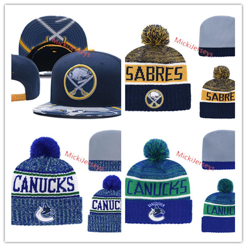 7f71bfd753f 2018 New Vancouver Canucks Knit Hat Embroidered White Grey Black ...