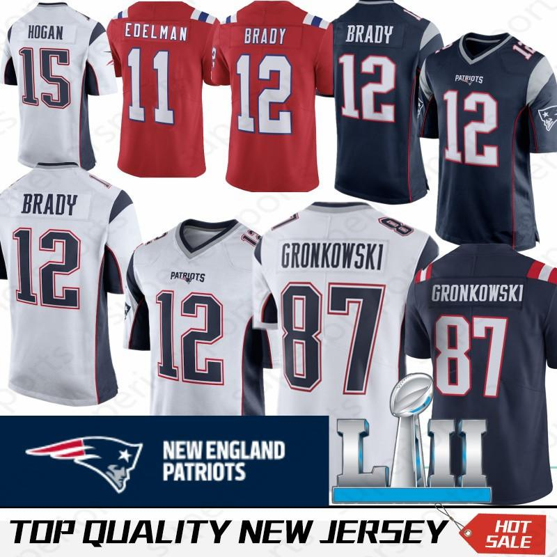 quality design 4685e 47cd3 12 Tom Brady Jerseys 15 Chris Hogan 11 Julian Edelman 87 Rob Gronkowski 92  James Harrison