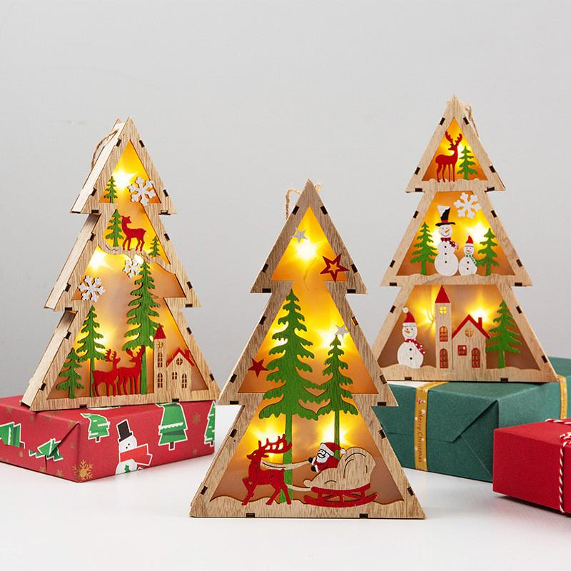 LED Light Decorative Night Light Christmas Tree Hanging Ornaments Holiday Decor Household New Arrivals Best Selling Dropshipping