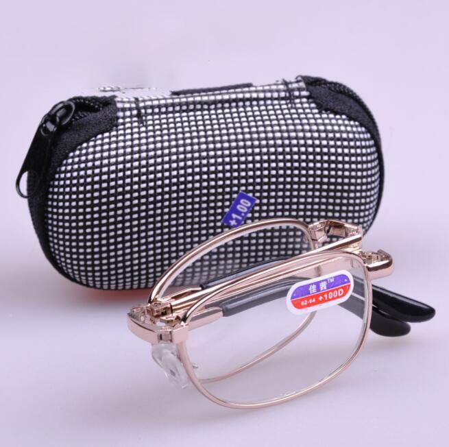 d7009bb2c6 Foldable Folding Reading Glasses Silver Frame Men Women Convenient ...