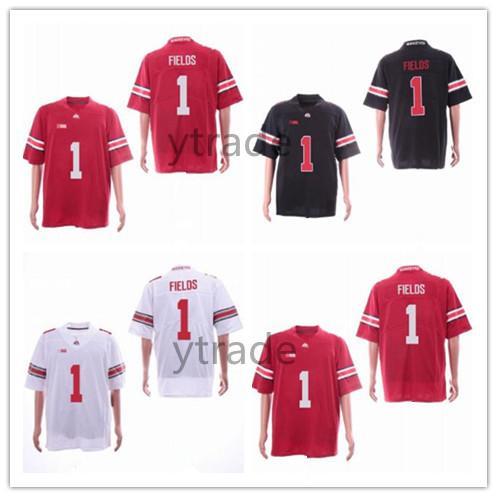 best cheap 56ecc 4edc3 2019 New Justin Fields Jersey OSU Ohio State Buckeyes College Football  Jerseys Home Away Red Black White