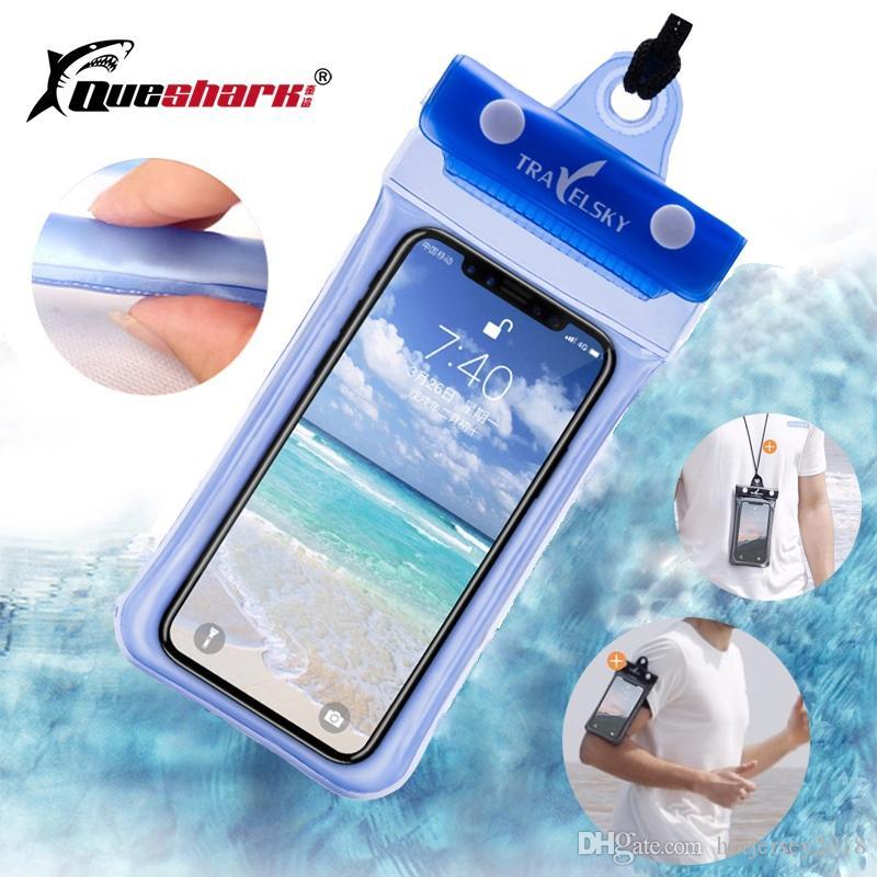 Waterproof Swimming Bags Floating Air Phone Bag Outdoor River Trekking  Diving Beach Swimming Pool Water Storage Shoulder Bag #324693