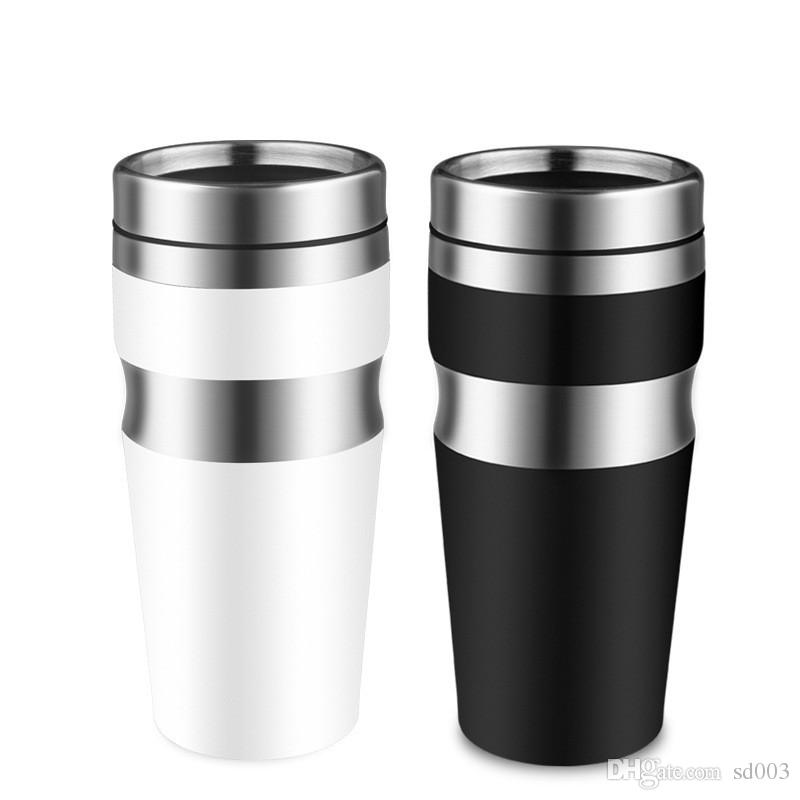 High Grade 450ml Stainless Steel Tumbler Heat Resistant Double Wall Water Bottle Non Slip Bottom Design Cup For Car 15fn BB