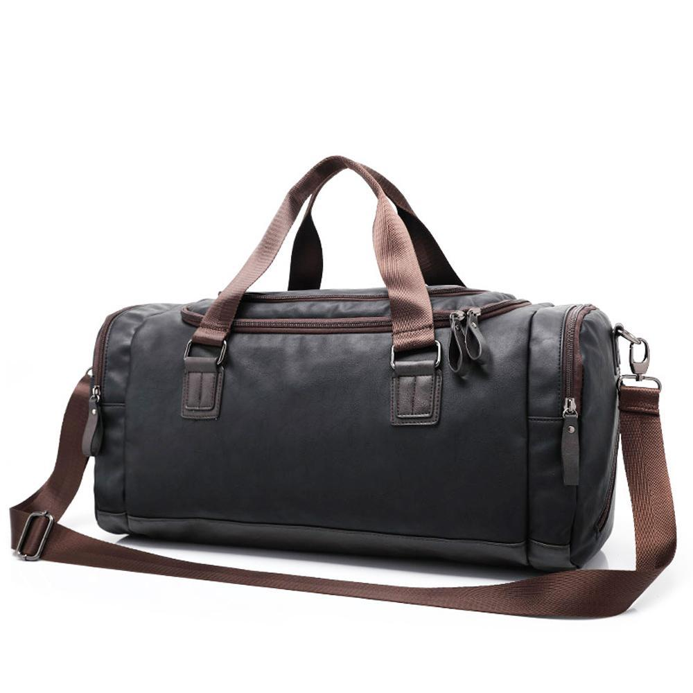 2176b2e72e96 New Genuine Leather Travel Bag Men Duffel Bag Large Capacity Bags ...