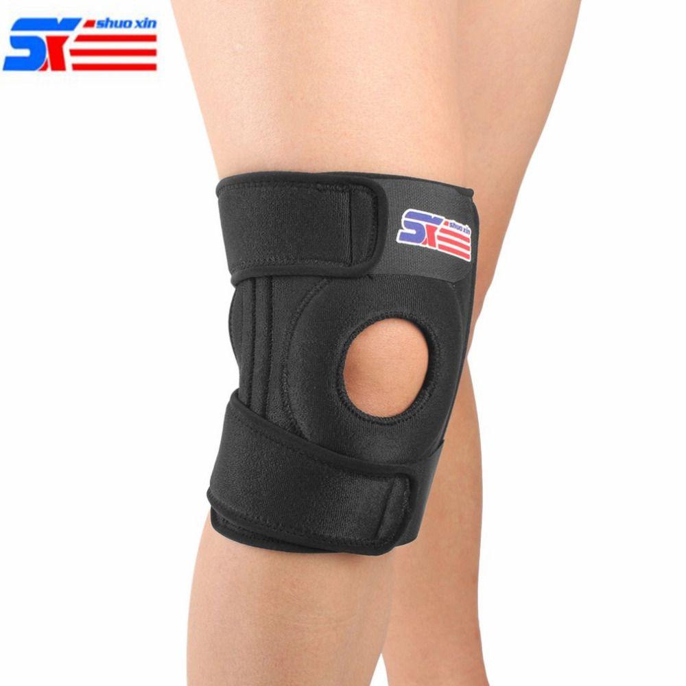69ac15ee0c Adjustable 4 Springs Elastic Knee Support Brace Kneepad Professional ...