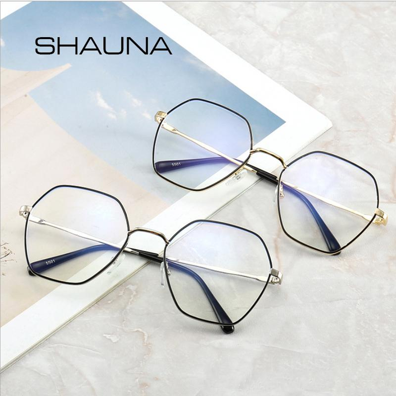 cbbe03671f4 SHAUNA Anti Blue Ray Glasses Square For Women Myopia Computer Frame ...