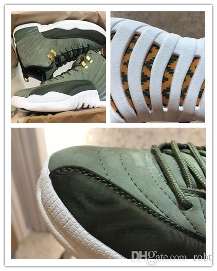 promo code 98a7c 0b21c 2019 XII 12s Chris Paul Class Of 2003 CP3 Mens Basketball Shoes Olive  Canvas Metallic Gold Real Carbon Fiber 12 Sneakers Sports Trainers