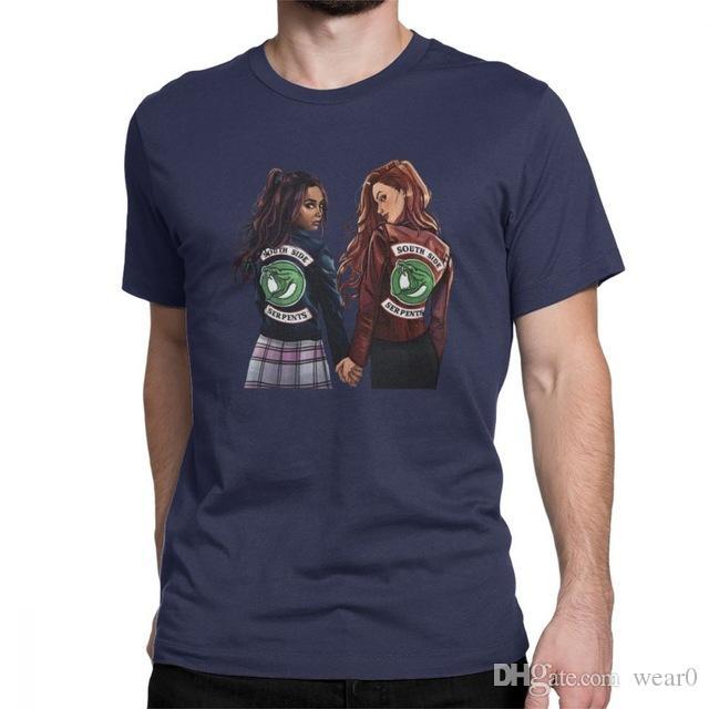 Hombres 6xl Ver De 5xl Tv Casual Cuello Tees S Riverdale 2019 Camisetas Tops 4xl O Ropa Serie Camiseta Diseñador Choni Hombre 8nPw0Ok