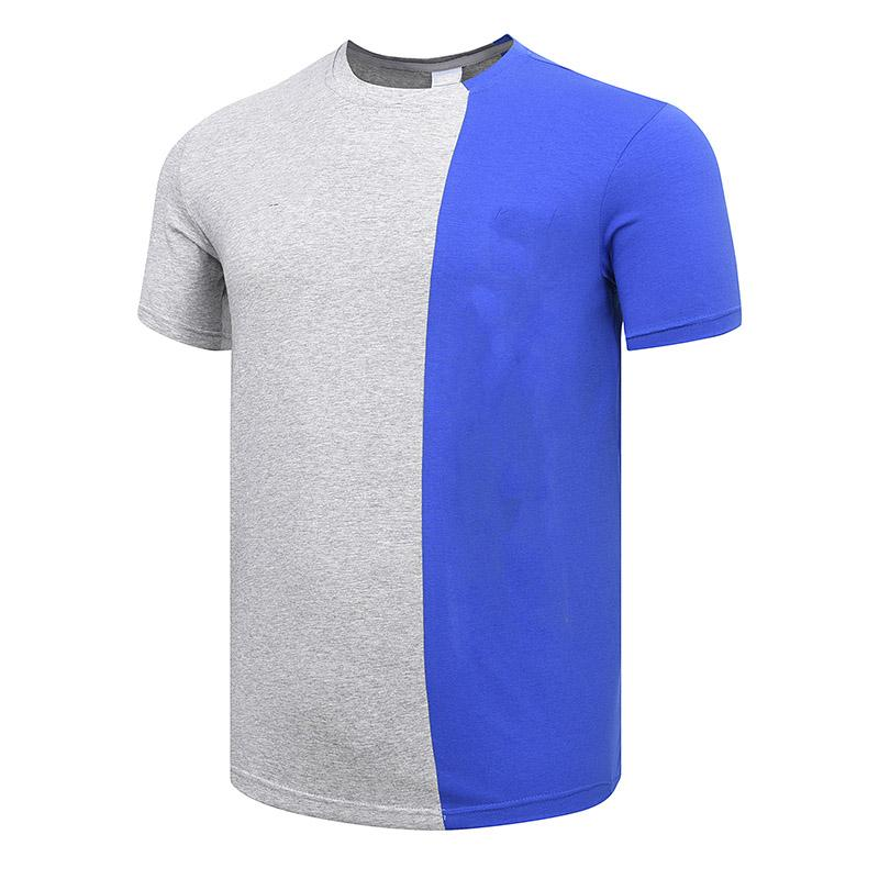 Men's T-shirts 2019 New Fashion Active Pure Color Print Breathable Soft Quick Dry Pullover Shirts Cotton Blend Size L-5XL