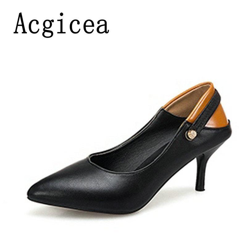 5b4cdb38a61d Designer Dress Shoes 2 Wear Style 2019 New Women Shallow Pumps Super High  Heels Mix Colour Mature Woman Female Elegant White Black Footwear Pink  Shoes Munro ...
