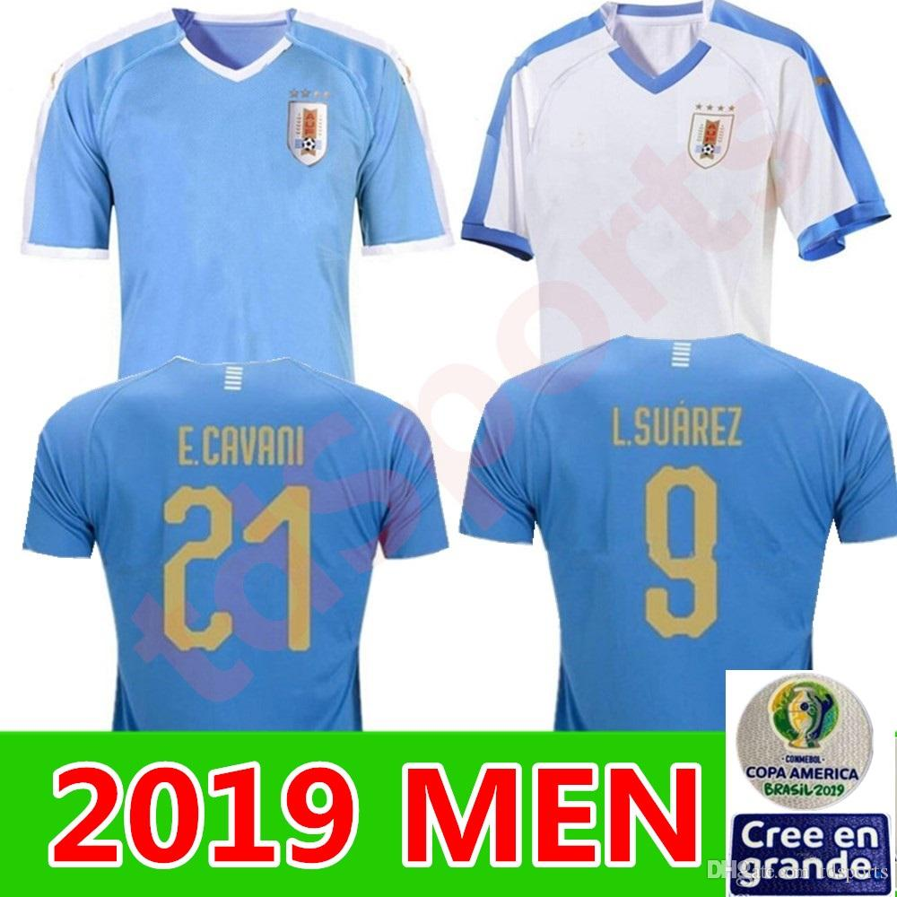 2019 Uruguay Copa America Soccer Jersey away 19 20 Home L.suarez E.cavani Soccer Shirt D.GODIN National Team Football Uniforms