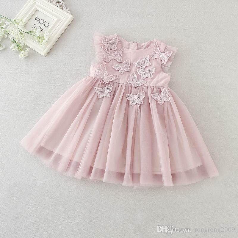 Retail 2019 New Baby Girl Christening Gown 3D Embroidery Butterfly Taro  Purple First Birthday Baptism Dress+Headband 9792BB Online with  28.0 Piece  on ... 2c796dd128e