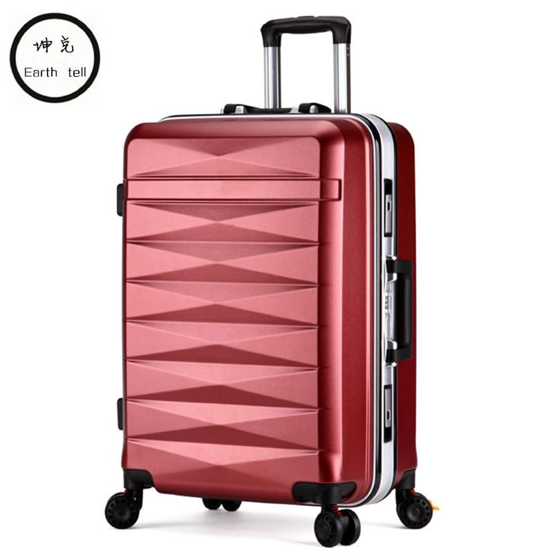 30d5e5155 Men Women Travel Trolley Case Suitcase Bags Student Shipping Box Aluminum  Frame Universal Wheel ABS PC Luggage Bag 20 24 Inch Travel Bags For Men  Overnight ...