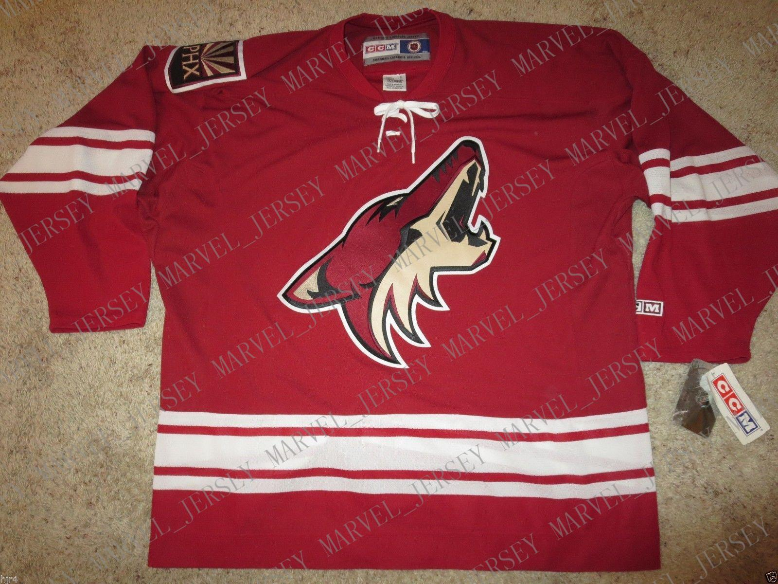 Cheap custom Arizona Coyotes #7 HAKES CCM Hockey Red Jersey Mens Personalized stitching jerseys