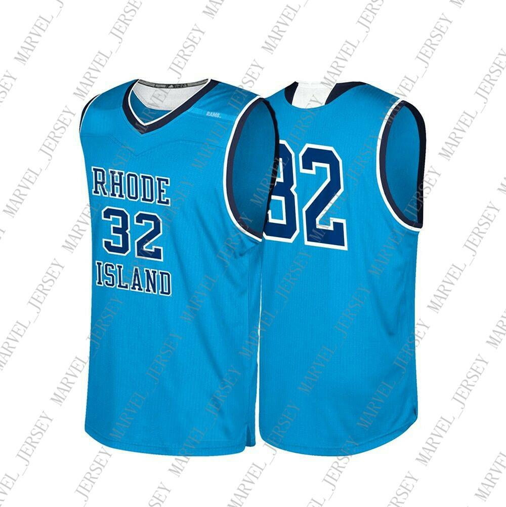 new products 4e649 38732 Cheap Custom Rhode Island Rams NCAA #32 Light Blue Basketball Jersey  Personality stitching custom any name number XS-5XL