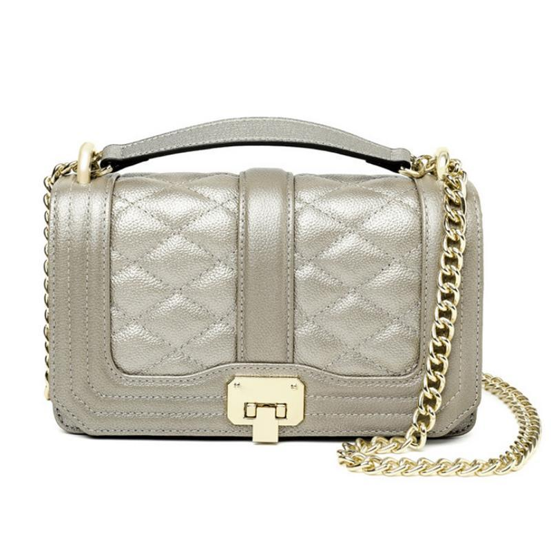 f07ab042ae75 Elegant Small Square Chain Pu Leather Bag Fashion Single Shoulder Hand  Chains Bags For Women Lady Female Crossbody Messenger Bag Wholesale Bags  Over The ...