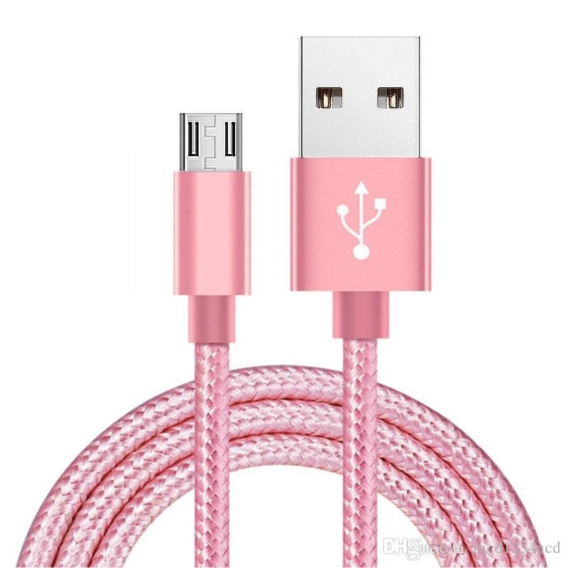 1 м 2 м 3 м типа C Micro USB-кабель плетеный нейлоновый сплав металлические кабели для Samsung S8 S10 S11 Примечание 10 HTC Android телефон