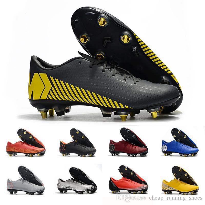 buy popular d590e ad15f 2019 Red yellow mens soccer shoes Mercurial superfly 360 VII Elite SG AC  soccer cleats Neymar football boots chuteiras sneakers