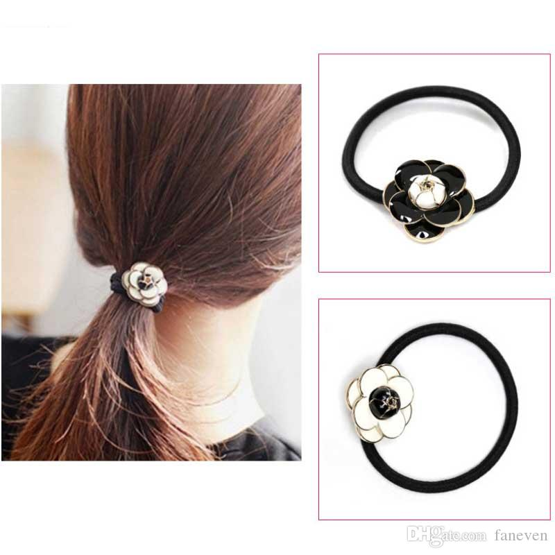High quality camellia Oil letters Hair rope Headbands