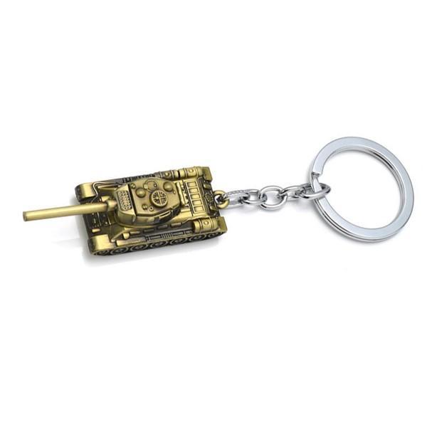 High Quality World Tanks Key Chain Metal Keyring For Unisex Weapon Tank Car Men Keychain Retro Fashion Jewelry Hot Sale