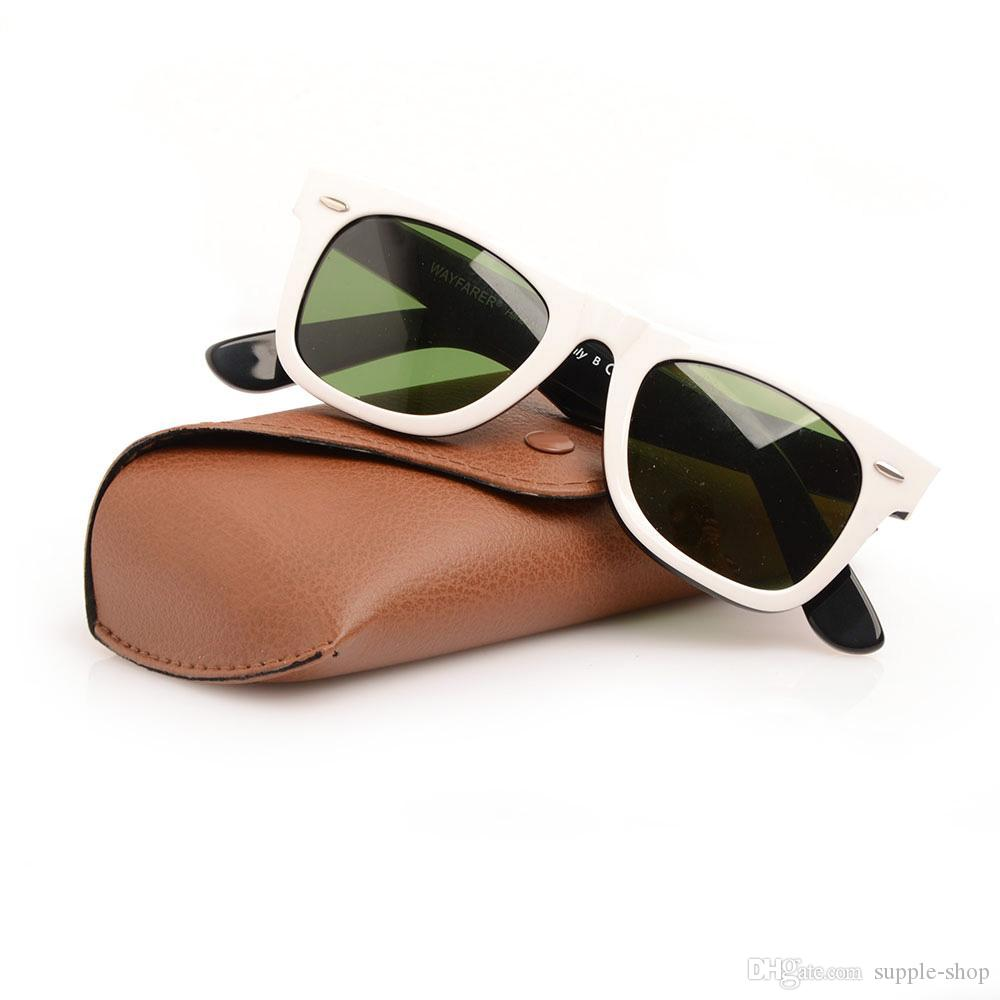 ca172e079aa High Quality Plank Glasses Black White Frame Green Lens Sun Glasses 2140 Metal  Hinge Sunglasses Mens Womens Sunglasses Wayfarers Sun Glasses Suncloud ...