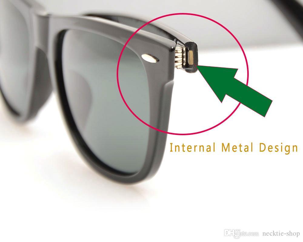 Yüksek Kalite Tahta Güneş gözlükleri Siyah cam Lens Güneş Gözlüğü Metal menteşe Güneş Gözlüğü Marka Tasarımcı Mens Güneş gözlükl ...