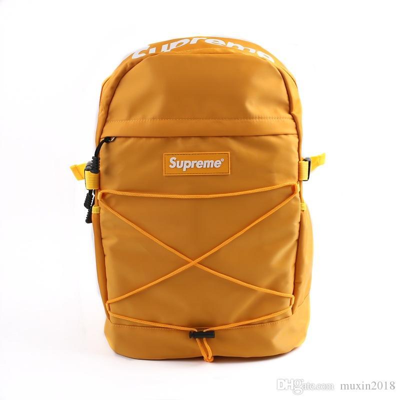 supreme backpack designer borse Zaini di delle donne la scuola adolescenti ragazze della scuola sacchetti delle signore del tessuto di tela di canapa zaino femminile Bookbag