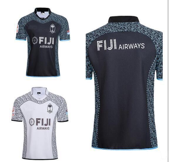 e509e3ff3c1 Top Quality 2018 2019 New FIJI Home Away White Balck Rugby Jerseys ...