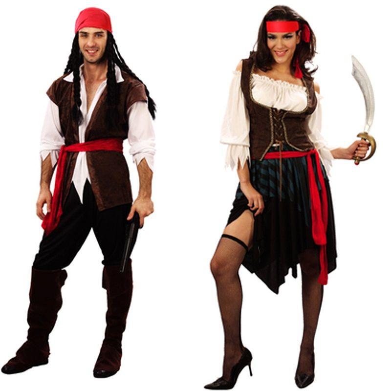 94be77a1f3c4 costume women captain pirates caribbean Jack Sparrow Pirate fantasia Adult  Fancy Dress Carnival Halloween Cosplay Costume Women Men