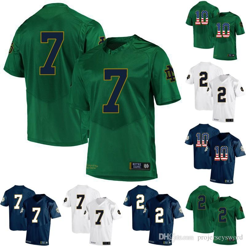 f16401227 2019 Mens Notre Dame Fighting Irish 7 Wimbush 2 Dexter Williams 6 Jerome  Bettis 8 Jafar Armstrong 12 Ian Book College Football Jerseys From  Projerseysword