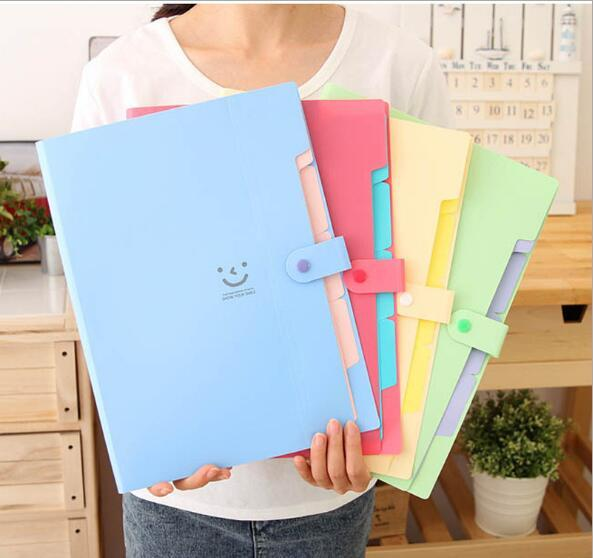 Wholesale- Overvalue Accordion Design A4 Document Holder A4 Paper Folder Storage Binder Pouch Package Office School Filing Storage Bag