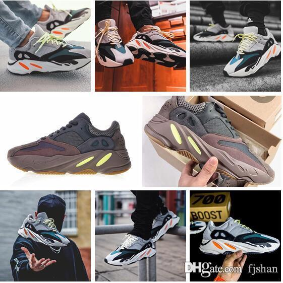 4e12266eff46f Best Quality Kanye West Wave Runner 700 V2 Static Mauve Solid Grey Sports  Running Shoes 2019 New Men Women Sports Sneakers Shoes 36 46 Loafers For Men  Red ...