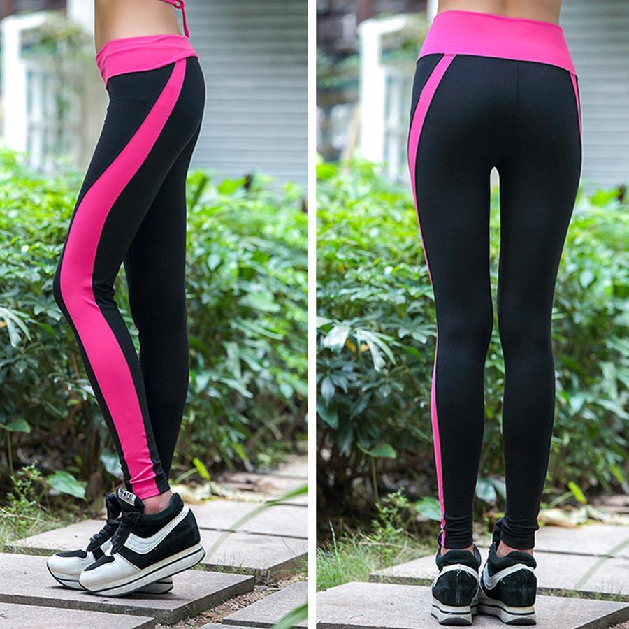 1156d25399 Compre Pantalones Deportivos Para Mujeres Medias De Compresión Bodyboulding  Yoga Pnats Pantalones De Compresión Mallas Para Correr Mallas Deporte Mujer  A ...