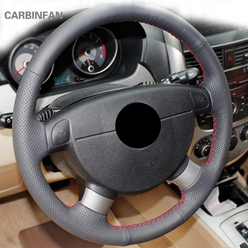 Black Artificial Leather Steering Wheel Cover for Lova Aveo Excelle Daewoo Gentra 2013-2015 Lacetti 06 -12 P16