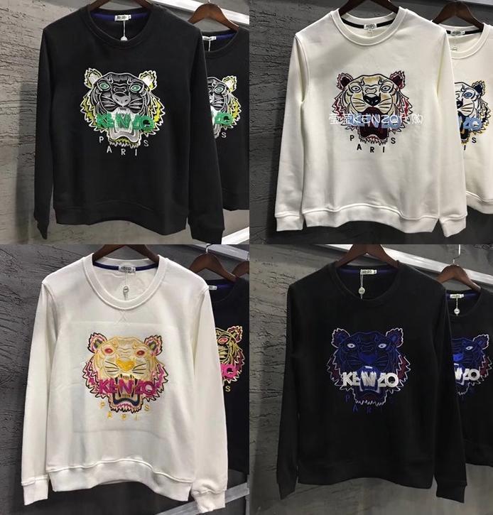 c2358019e 2019 2018 Designer Luxury Tiger Head Embroidered Men Sweatshirt Cotton  Autumn Winter Unisex Hoodies Casual Women Streetwear Jogger Tracksuit From  ...
